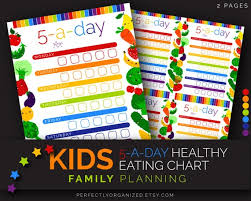 Family Planning Wall Chart Kids Healthy Eating Chart Dry Erase 5 A Day Fruit Veggies Printabe Chart Rainbow Wall Planner Organizer Diy Household Pdf Printables