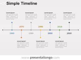 timrline simple timeline powerpoint diagram presentationgo com