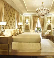 Elegant Gold And White Bedroom Ideas : Amazing Gold And White Bedroom Ideas  With Luxury Cahndelier