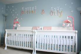 Girl Nursery Ideas Blue Walls Reference In Creating Cool Girl