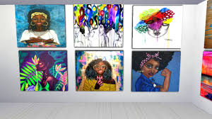 Sims 4 Storyteller & Builder — Black Art for Black History month These are  CC...