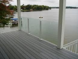 image of glass deck railing designs