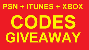 psn free codes gift card amazon google play itunes xbox generator giveaway 24 7 method