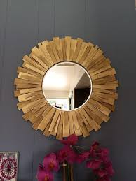 gold mirror wall decor beautiful 24 inch round picture frame beautiful sunburst round handmade wall