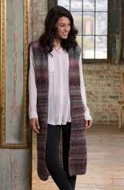 Стильный длинный <b>жилет</b> спицами для женщин, связанный из ...
