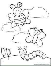 Spring Coloring Pages Spring Coloring Pages Printable First Grade At