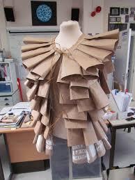 Recycled Designer Apparel Final Piece Jacket Art Gcse Brown Paper Bag Jacket Based On