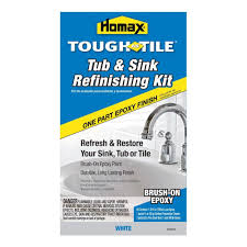 homax 26 oz white tough as tile one part brush on kit
