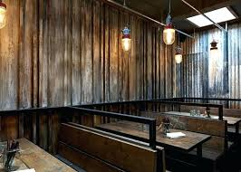 very attractive tin walls interior rustic sheet metal kitchen table corrugated design using for on wood