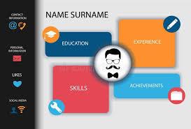 Curriculum Vitae Resume Modern Creative Design Stock Vector