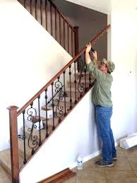 replace stair railing. Wooden Stair Spindles Replace Railing Rails Pleasing How To Remove Banister With Additional Replacing R