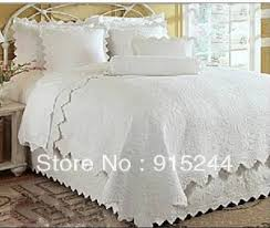 lace princess white red purple KING bedding luxury floral BIG BED ... & white cotton quilting waterwashed embroidered quilts 3pcs bedding set  Europe American style hot sale quilt pillow drop shipping Adamdwight.com