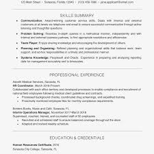 Basic Skills For A Resume Resume Example With A Key Skills Section