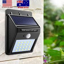 20 led outdoor solar sensor led light pir motion sensor solar lamp detection range dusk to dawn dark security light stock in us solar light solar sensor led