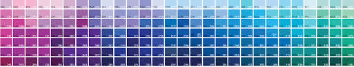 Methodical Pantone Color Chart Blue Green 2019