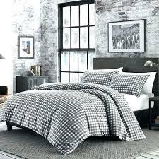 flannel comforter king grey white plaid set cabin themed bedding lumberjack pattern lodge cover flannel comforter king