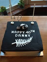 40th Birthday Cakes For Him Week 15 An All Blacks Themed 40th