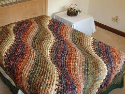 Bargello Wave Quilt -- outstanding meticulously made Amish Quilts ... & Twin-size Hand Painted Bargello Wave Quilt Photo 1 ... Adamdwight.com