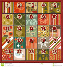 christmas calendar background. Simple Background Christmas Background With Advent Calendar On Calendar Background R