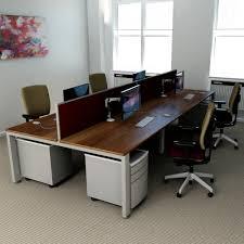 home engaging 4 person desk 2 freeway 4man outstanding 4 person desk 5 583 modern walnut