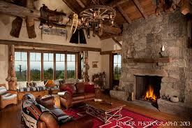 Log Cabin Living Room traditional-family-room