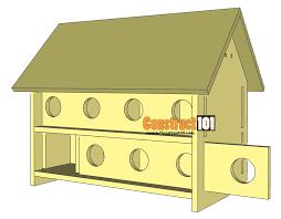 martin bird house plans. Purple Martin Bird House Plans 16 Unit Construct101