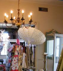 chandelier with parasol