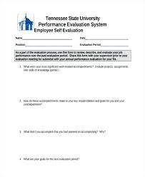 Self Evaluation Report Template Awesome Sample Employee Form ...
