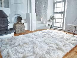 37 wonderful big faux fur rug