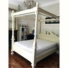 King Size Wood Canopy Bed Wood Canopy Bed Frame Queen Breathtaking ...