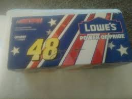 2003 jimmie johnson autographed 48 lowes power of pride action from lionel nascar