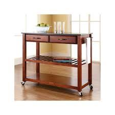 Crosley Furniture Black Granite Top Kitchen Cart Granite tops