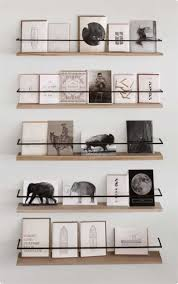 Metal and wood display shelves