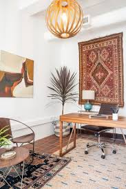 decorist sf office 19. Unique Office Bohemian Modern Executive Office With Patterned Woven Rugs Original Oil  Painting And Sculptural Pendant Lighting To Decorist Sf Office 19 I