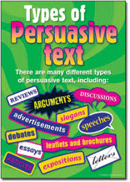 persuasive text posters reviews arguments discussion slogans  types of persuasive essays 5 essay writing tips to types of persuasive essays
