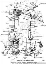 ford truck technical drawings and schematics section e engine carburetor ford 1 barrel thermostatic choke 1970 6 cyl 170 240 300 engines e100 300 f100 f350