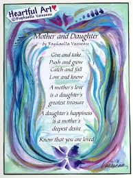Mothers Day Inspirational Quotes Adorable MOTHER And DAUGHTER Original Poem Inspirational Quote Family Etsy