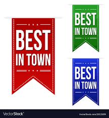 Best Font For Banner Design Best In Town Banner Design Set