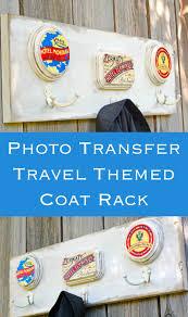 Anderson Coat Rack Vintage travel themed wooden coat rack Mod Podge Rocks 17