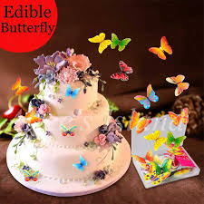 Detail Feedback Questions About 34pcs 3d Edible Butterfly Cake