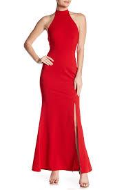 Minuet Halter Solid Dress Hautelook