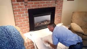 robert martin gas fireplace cleaning step 1