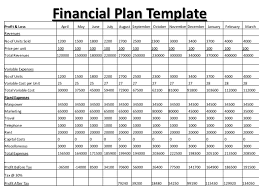 financial planner template 8 financial plan templates excel excel templates