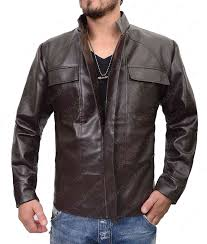 poe dameron jacket from star wars episode 8 in brown leather