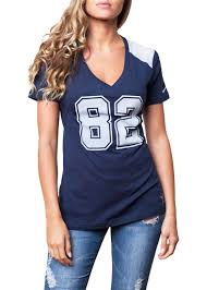 Witten Jersey Top Cowboys com Dallas Sportythreads Womens