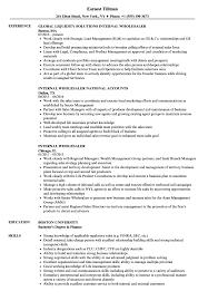 Internal Wholesaler Resume Samples Velvet Jobs