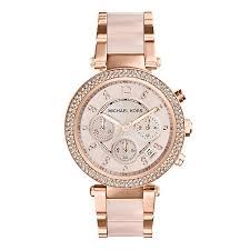michael kors watches designer watches ernest jones michael kors ladies rose gold tone bracelet watch product number 1736442