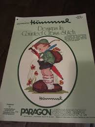 Authentic Photos And Designs Vintage Authentic Hummel Designs Counted Cross Stitch Book