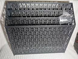 3 tier modern black wall mounted metal