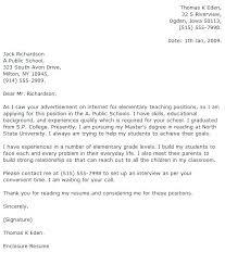 Example Teaching Cover Letter Teacher Format Assistant Samples